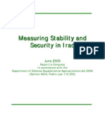 Measurriing Sttabiilliitty and Securriitty iin IIrraq