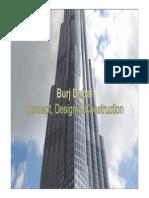 Burj Dubai Concept Design and Construction Presentation