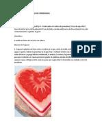 Gelatina de Fresa Con Leche Condensada