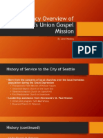 An Agency Overview of Seattle's Union Gospel Mission