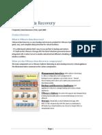 VMware Data Recovery FAQ 4.21.09