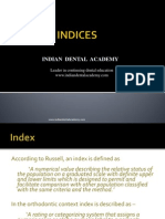 Indices / orthodontic courses by Indian dental academy