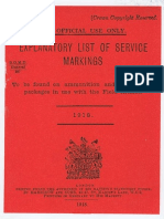 Markings to Be Found on Ammunition 1918