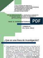 Estructuración de Las Lineas de Investigación Institutos, Colegios Universitarios y Politécnicos.