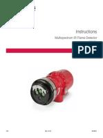 Multispectrum IR Flame Detector X3301 Detronics Manual