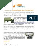 Welding Electrode Dry Mixer and Wet Mixer
