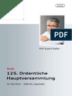 Rupert Stadler - 125. Ordentliche Hauptversammlung 2014, 2. Teil
