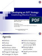 Developing an IS/IT Strategy: