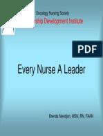 Every Nurse a Leader