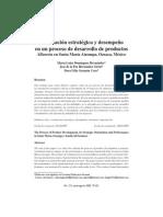 Orientación Estrategica y Desempeño de Un Proceso de Desarrollo de Productos