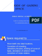 Methods of Gaining Space. / orthodontic courses by Indian dental academy