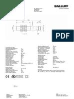 BallUff sensor data sheet