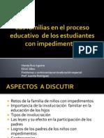 Las Familias en El Proceso Educativo de sus hijos con impedimentos