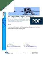 WANSpeak Musings - Volume VI