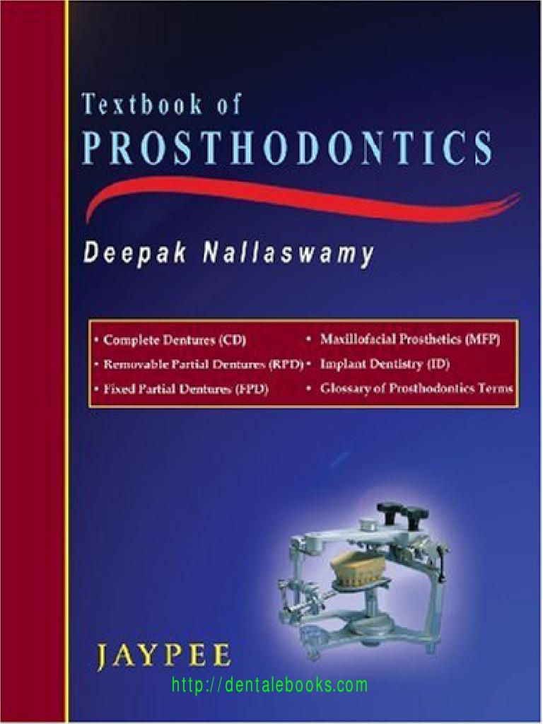 Textbook of prosthodontics dentures dental implant fandeluxe Gallery