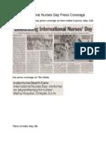 International Nurses Day Press Coverage