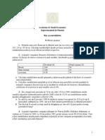 Seminar 3 - Probleme Tema 2- Risc Si Rentabilitate