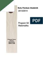 Panduan S2 Matematika 2013