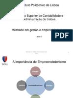 2- Empreendedorismo - Aula 1