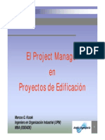 Project Manager en Edificacion