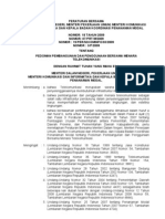 peraturan bersama mendagri, menteri pekerjaan umum, menkominfo, kepala badan koordinasi penanaman modal tentang pedoman pembangunan dan penggunaan bersama menara telekomunikasi
