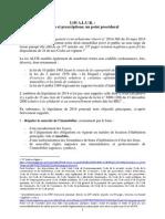 Loi ALUR _ Délais Et Prescription; Un Point Procédural (Version Finale)