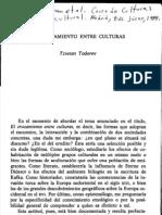 Todorov El Cruzamiento Entre Culturas