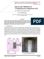 Analysis and Validation of Gravity Die Casting Process
