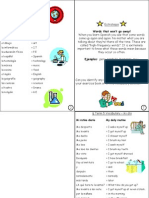 spanish year 7 unit 5 vocab sheet