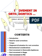 Root Movement in Orthodontics / orthodontic courses by Indian dental academy