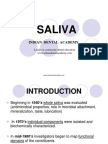 Saliva / orthodontic courses by Indian dental academy