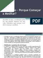 Meditação – Porque Começar a Meditar