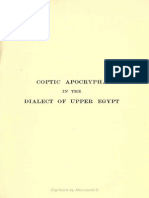 Wallis Budge - Coptic Apocrypha in the Dialect of Upper Egypt (1913)