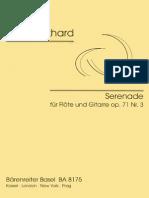 W.burkhard Serenade for Flute and Guitar Op.71 #3