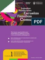 jornadas escuela familias y comunidad 1erciclo2014cuadernillo1