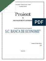 Proiect La Management