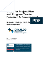 R&D Call 5 - Guide for Project Plan and Program Tender - Final Version 1.0