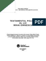 Testamentul Politic Al Lui Mihai Eminescu