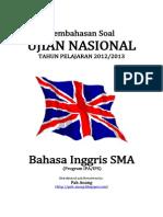Pembahasan Soal UN Bahasa Inggris SMA 2013