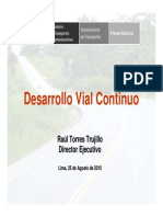 Dr_ Raúl Torres Trujillo - Estrategia de Provías Nacional, Desarrollo Vial Continuo