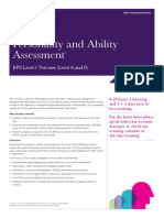 Training Course Factsheet Personality and Ability Assessment