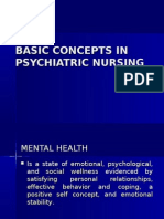 Basic Concepts in Psychiatric Nursing