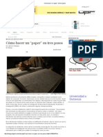 """Cómo Hacer Un """"Paper"""" en Tres Pasos"""