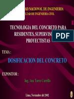 Dosificacion Diseno de Mezclas de Concreto Hormigon