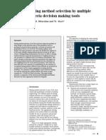 Seleccion de Metodo Multicriterio