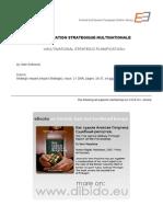 planification strategique multinationale