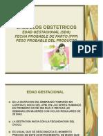 CALCULOS OBSTETRICOS