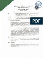 DBM-DOH Joint Circular No. 2013-1