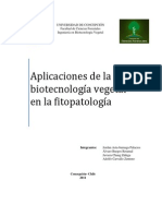 Aplicaciones Dela Biotecnologia en La Fitopatologia