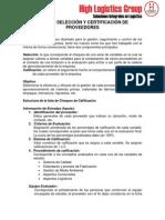 Instructivos Modelos de Selecci n y Certificaci n de Proveedores y Transportistas